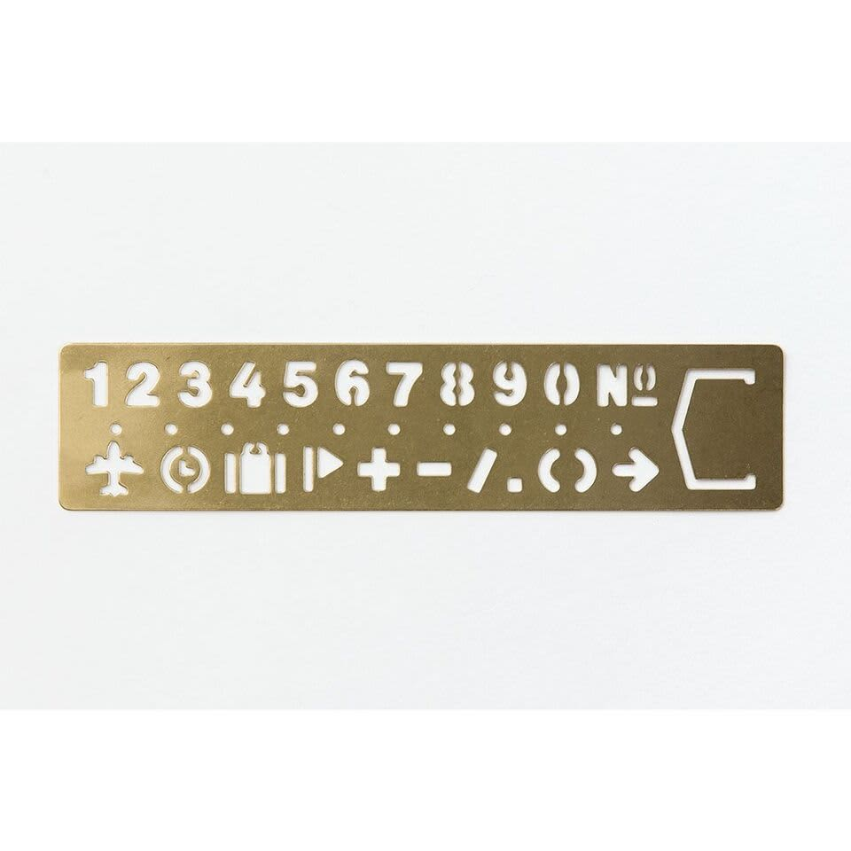 Traveler's Company TRC Brass Template Bookmark Number