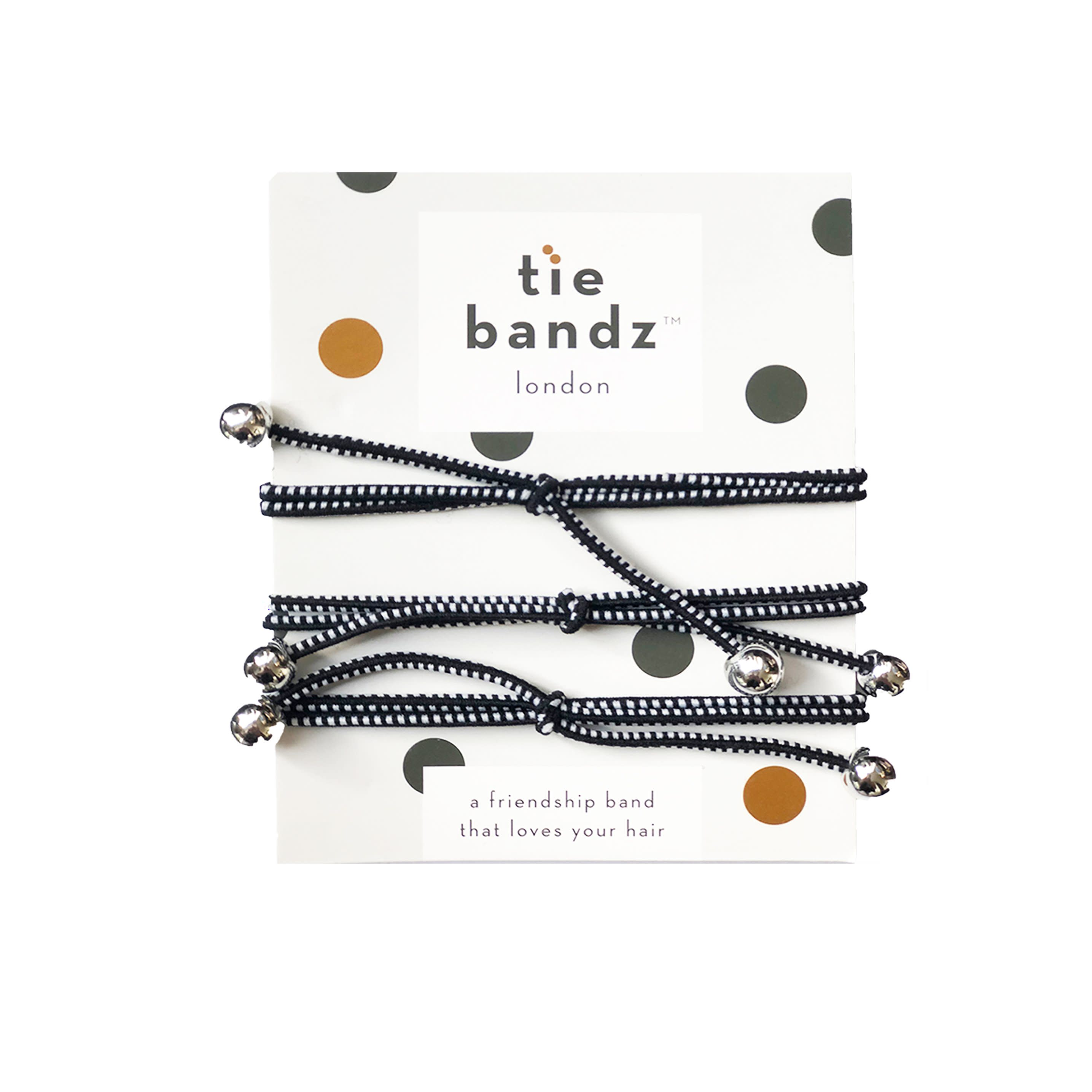 Tiebandz Black Tie Hair Tie and Bracelet