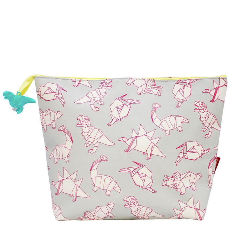 House of disaster Origami Dinosaur Print Wash Bag
