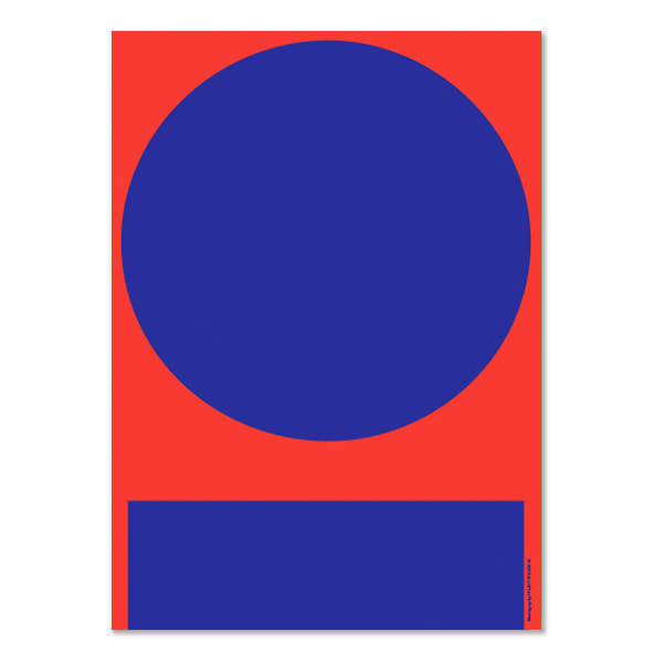 PLTY Red And Blue In And Out Poster