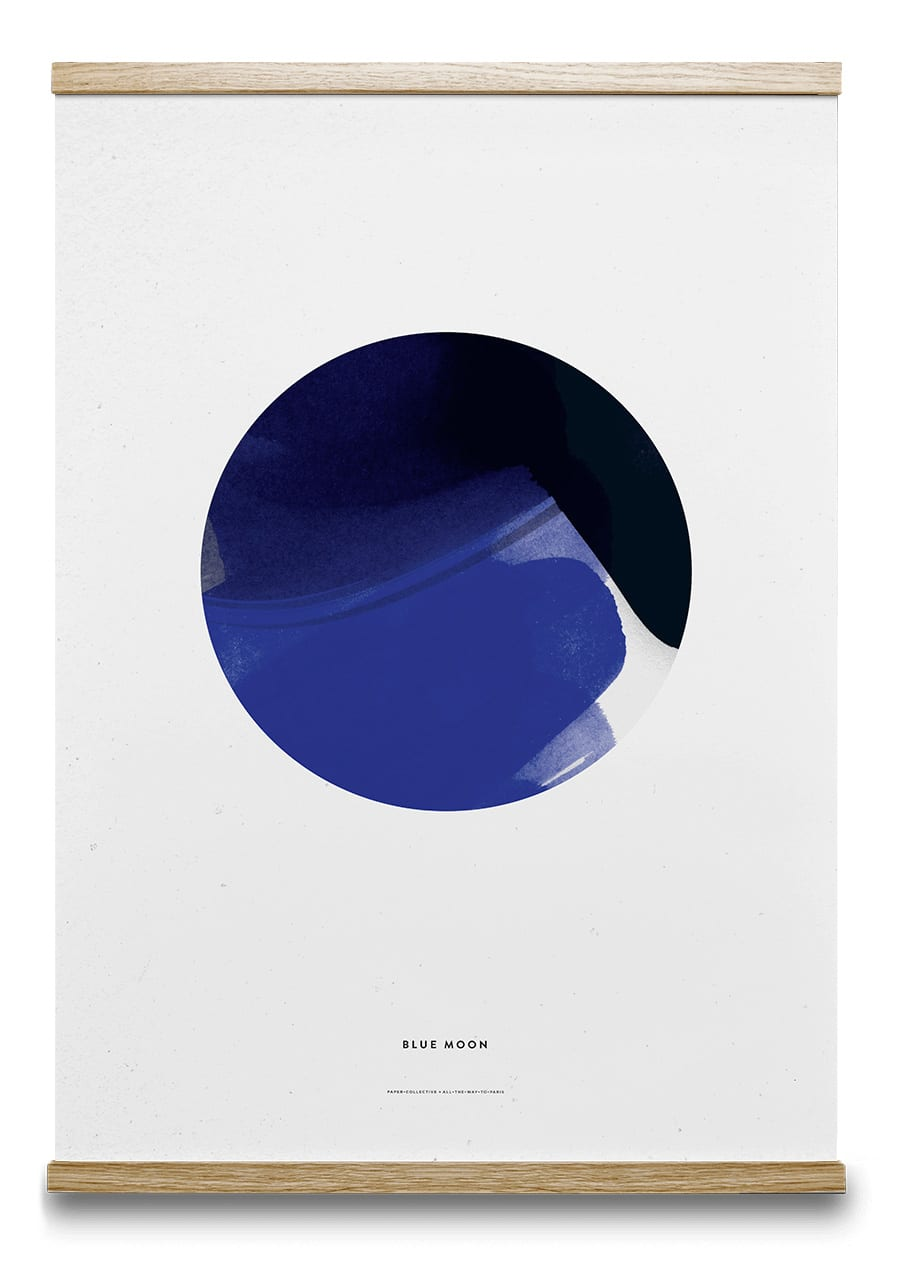 All The Way To Paris Blue Moon Poster 50 x 70 CM