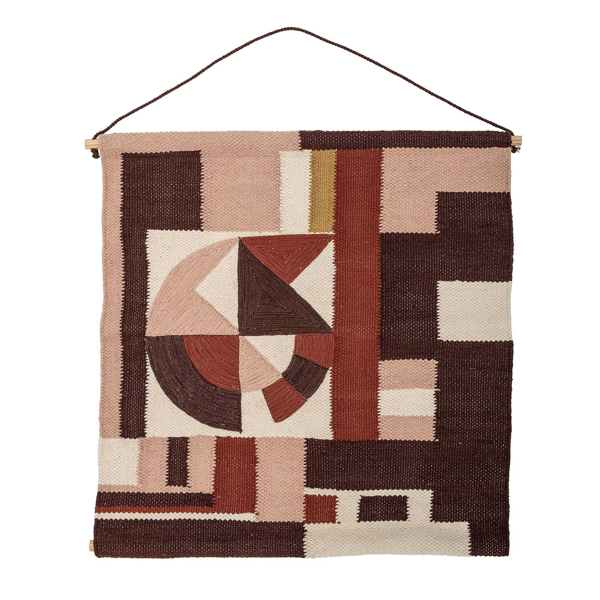 Bloomingville Multi Rich Colour Cotton Woven Wall Hanging Rug