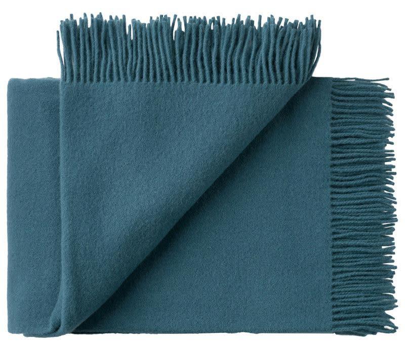 Silkeborg Uldspinderi Dark Petrol Athens Wool Blanket