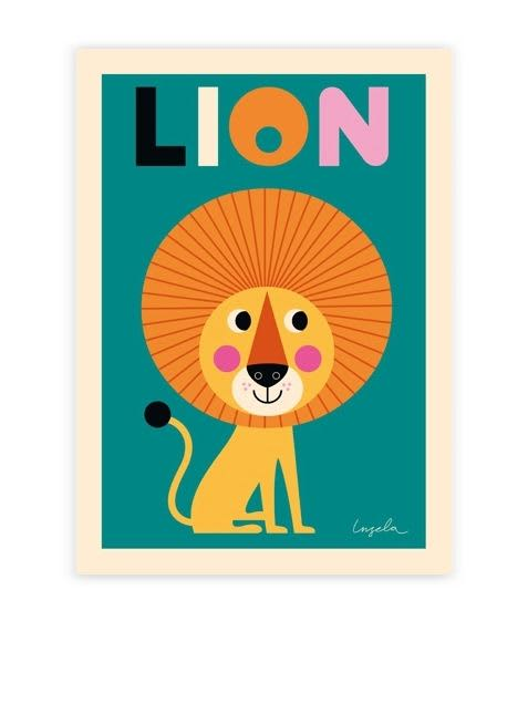 Omm Design Lion Poster