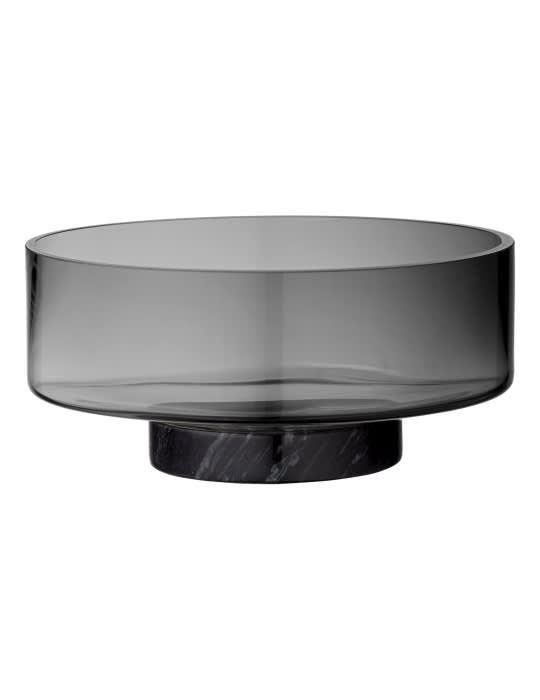 AYTM Black Grey Glass Volvi Bowl