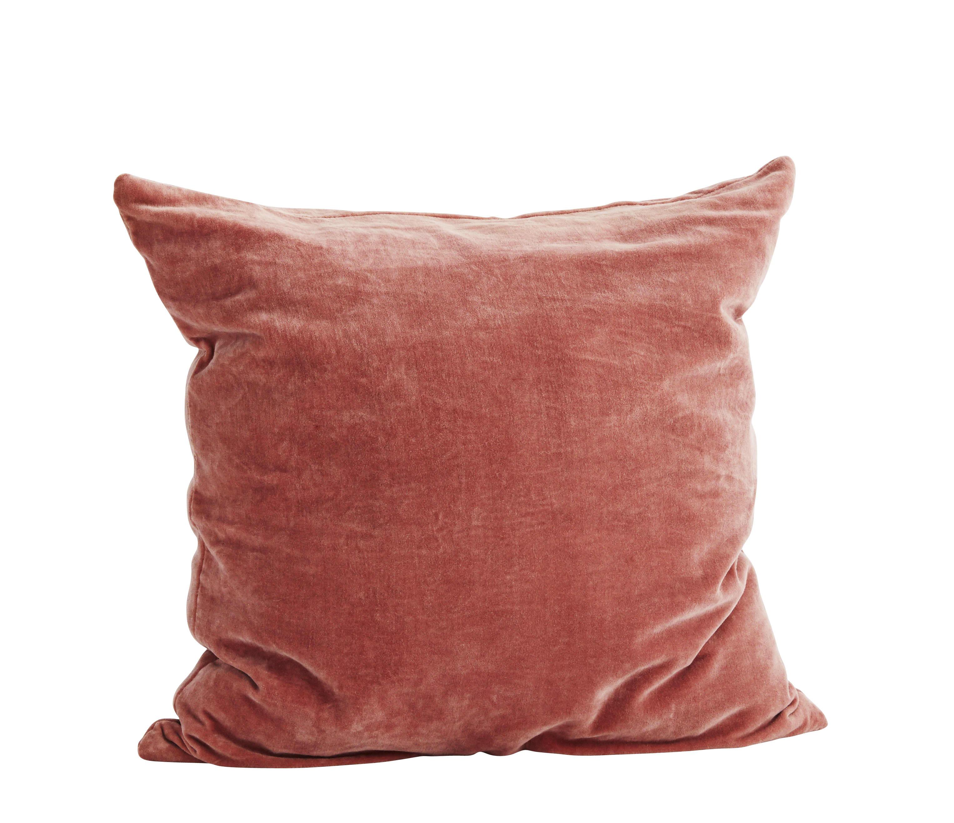 Madam Stoltz Rose Velvet Cushion