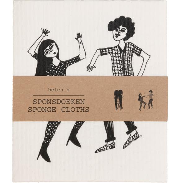 Helen B Set Of 2 Dancing Sponge Cloth