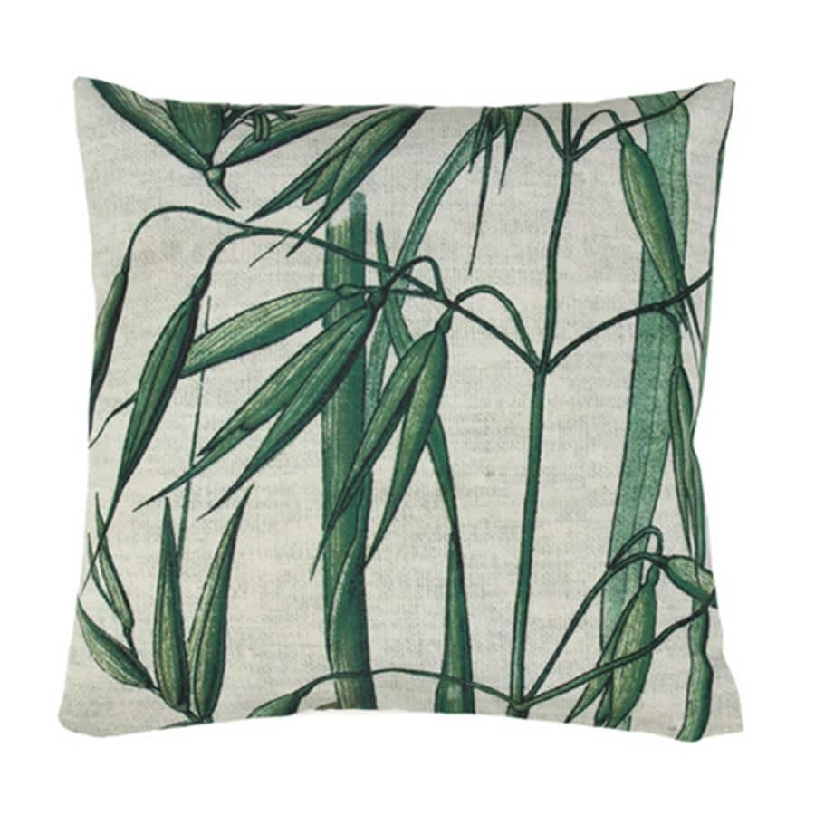 HK Living 4 5 x 4 5 Bamboo Printed Cushion