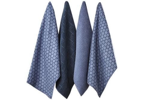 Ladelle Set Of 4 Honeycomb Microfibre Tea Towels
