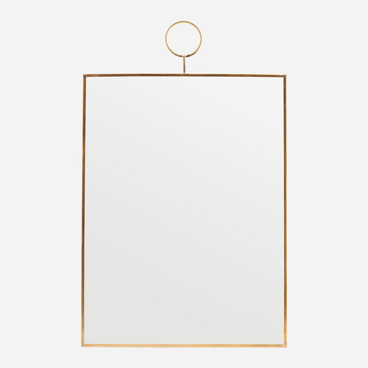 House Doctor Brass Loop Mirror - M