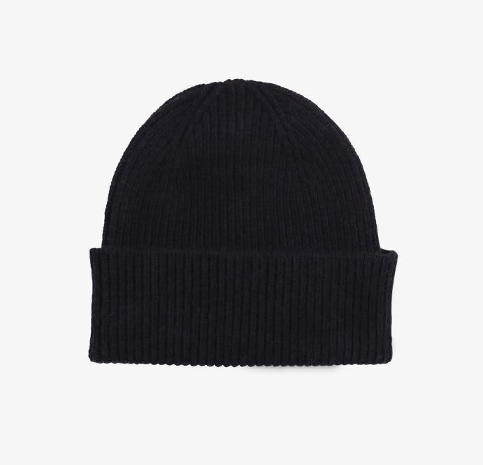 Colorful Standard Black Merino Wool Beanie
