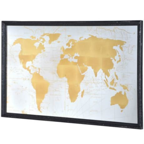 Trouva gold world map mirror product images gumiabroncs Gallery