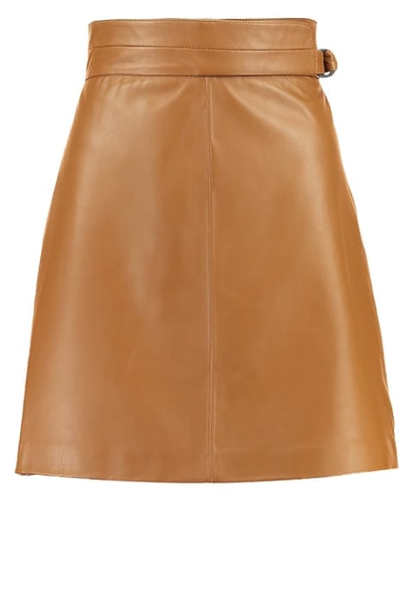 93c819e924 Trouva: French Connection Brown Leather Skirt