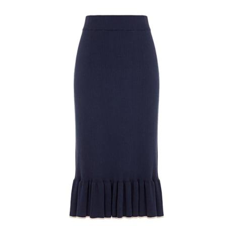 60fe46b264 Trouva: Les 100 Ciels Indigo Penny Ruffle Skirt
