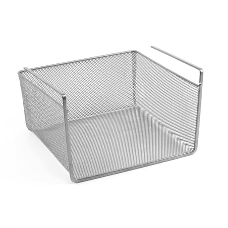 trouva under shelf storage basket small in silver mesh. Black Bedroom Furniture Sets. Home Design Ideas