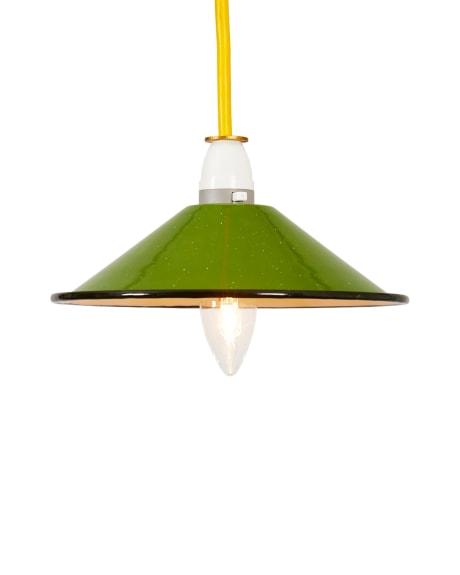 Emaille Lampenschirm trouva: kleiner grüner emaille-lampenschirm