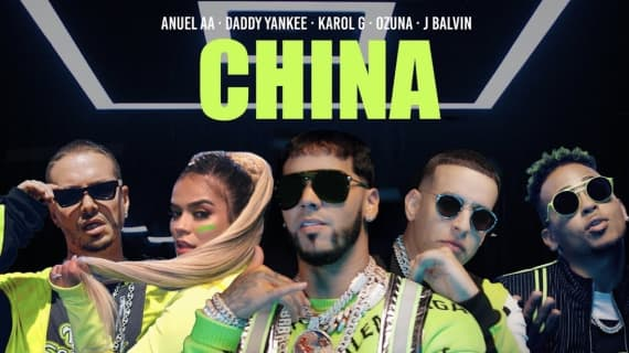 """""""China"""" nominated for """"Record Of The Year"""" & """"Best Urban Fusion/Performance"""" for the21st Annual Latin Grammy Awards"""