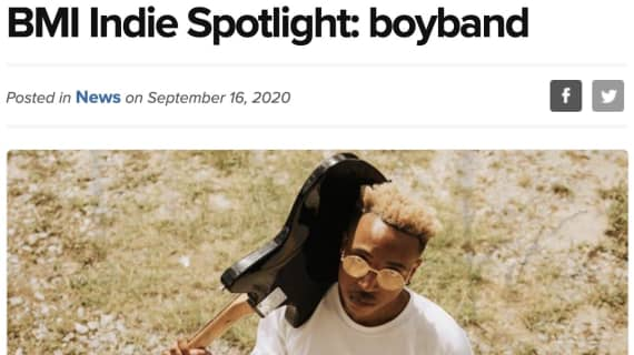 boyband featured in BMI's Indie Spotlight