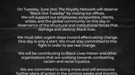 RoyNet supports #BlackoutTuesday
