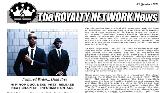 4rd Quarter 2012 Edition of the Royalty Newtork News.