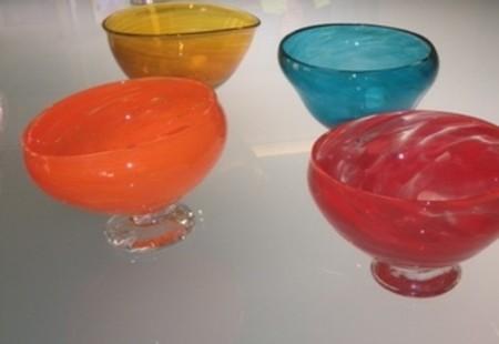 Artisan blown glass bowls