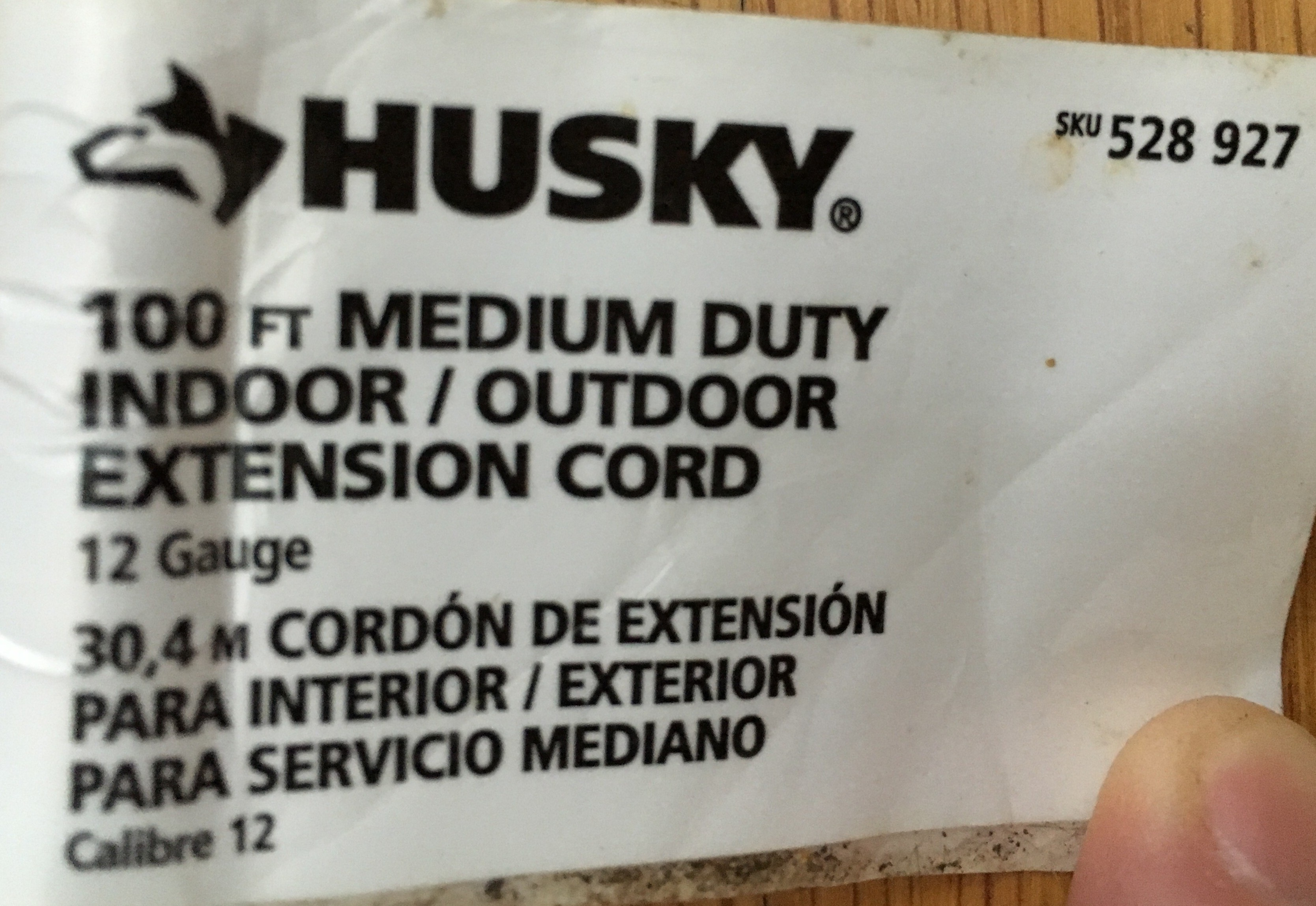 100ft Husky Extension Cord