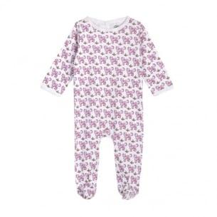 Pyjama bébé imprimé tigre rose