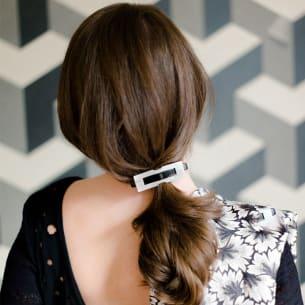 Horn Buckle Hair Slide
