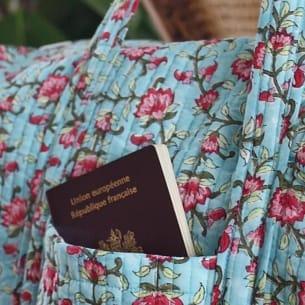 Block Printed Weekend Bag - 100% Organic Cotton