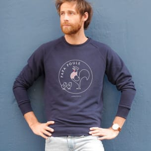 Sweat-shirt Papa Poule -2 colours - 1, 2, 3...6.  Add chicks + names