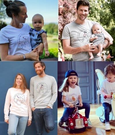 papa poule maman poule t-shirt
