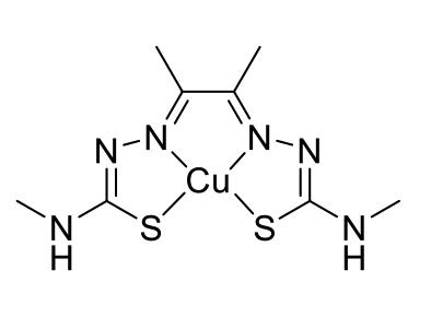 The chemical structure of Cu(-ATSM). Picture: supplied