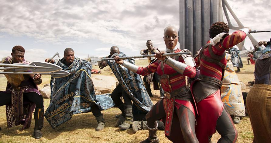 The film brings for the first time an African superhero and nearly all-black cast to the screen. Picture: Marvel Studios