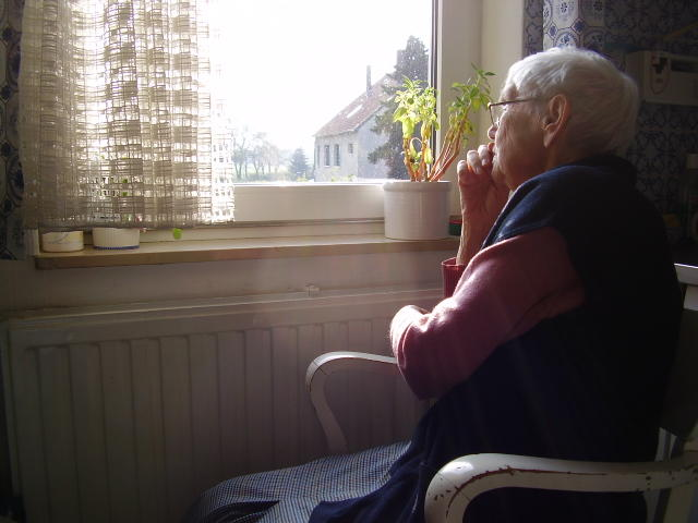 Our environments don't encourage older people to venture out. Picture: Elderly woman + her view, Borya/Flickr