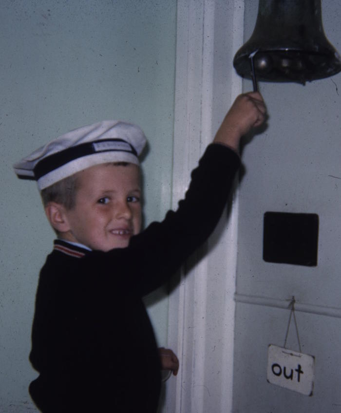<em>Wes Imms as Quartermaster on the SS Discovery, Grade 2 class of '65, East Devonport Primary School. Picture: Associate Professor Wesley Imms</em>