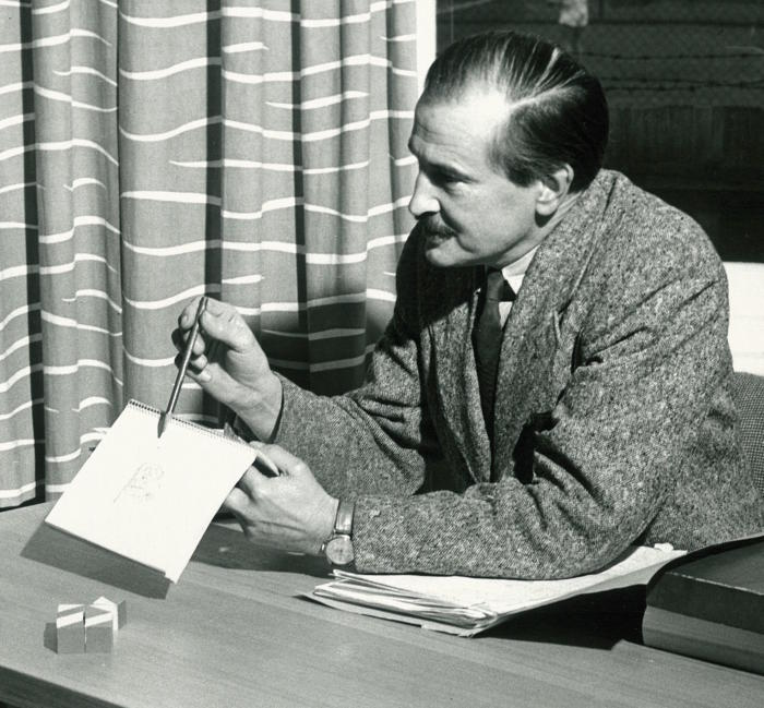 Professor Oscar Oeser. Department of Psychology collection, c.1950. Picture: University of Melbourne Archives