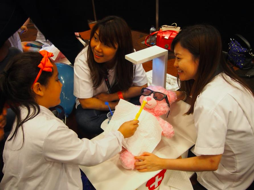 Training new doctors through child's play