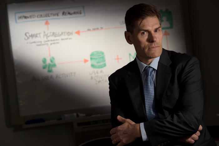 Associate Professor Tim van Gelder and colleagues aim to capitalise on our enthusiasm for arguing by developing a platform that encourages and identifies good reasoning. Picture: Paul Burston.</p>