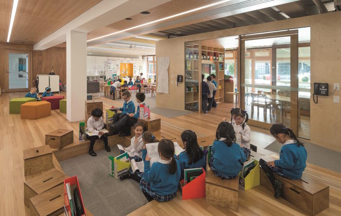 Our Lady of Assumption Primary School, Sydney. <strong>A single classroom with moveable furniture and different types of spaces encourages student choice, playfulness and independence</strong>. Architect: BVN. Picture: John Gollings.