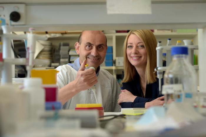Work by Dr Harry Georgiou and Dr Megan Di Quinzio will save babies' lives. Picture: Paul Burston