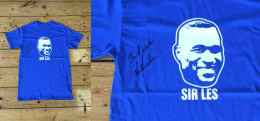 """Sir Les"" T-shirt signed by Les Ferdinand"