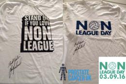 Non League T-shirts signed by Les Ferdinand