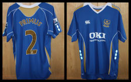 2007/8 Replica Pompey Home Jersey signed by Linvoy Primus