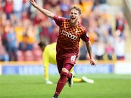 Goalscorer Billy Clarke's shirt from BCAFC vs. Swindon