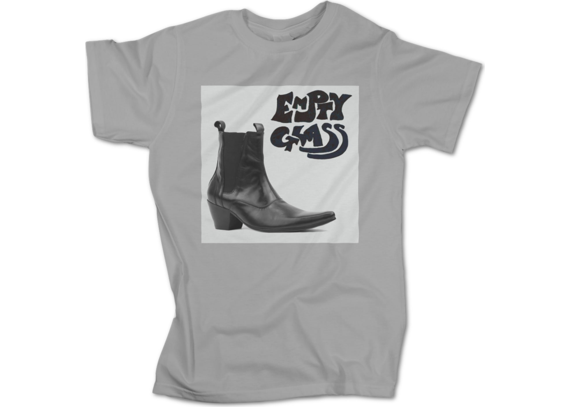 Empty glass boot   grey 1473083400