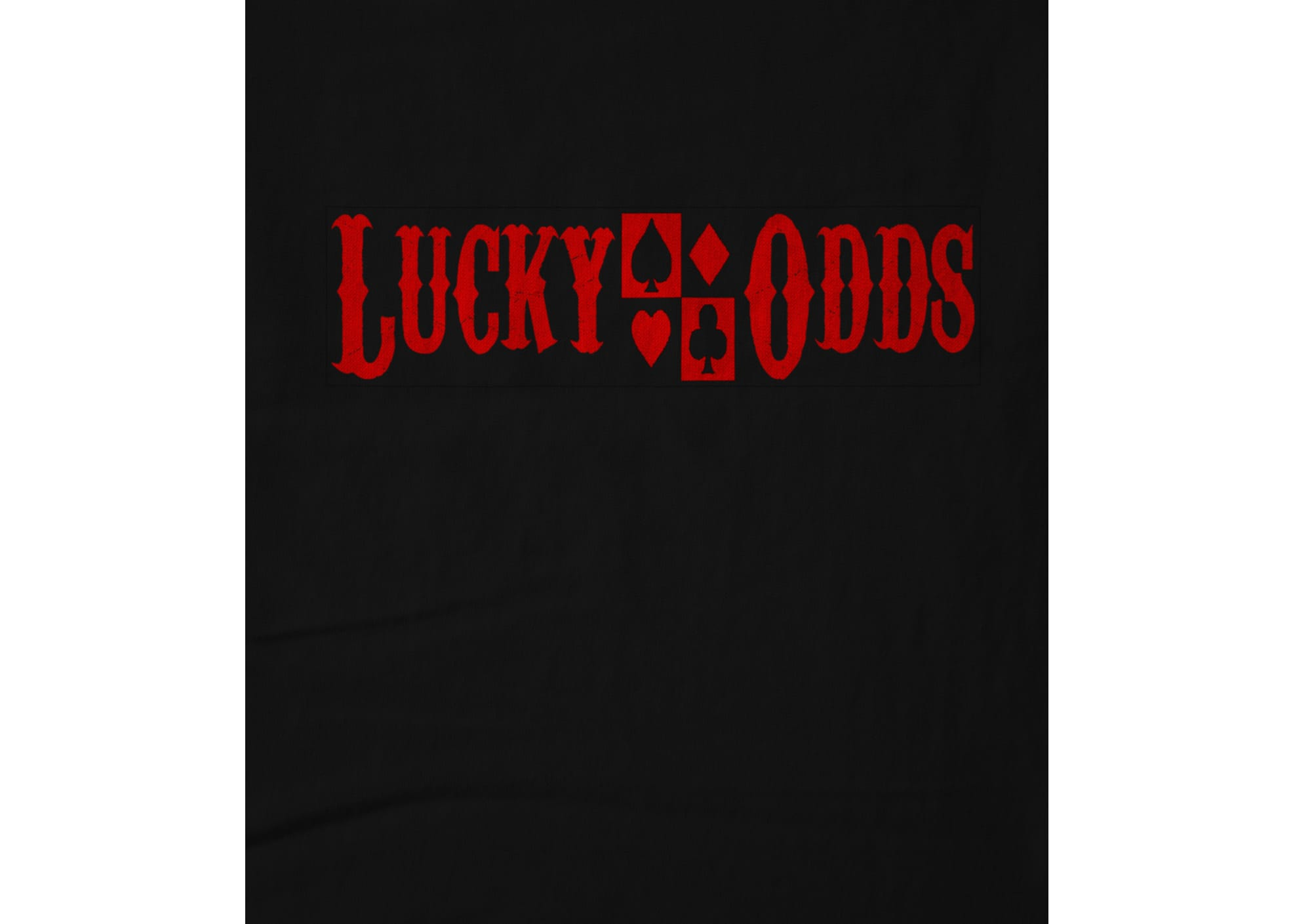 Lucky odds card suit tee 1478817620