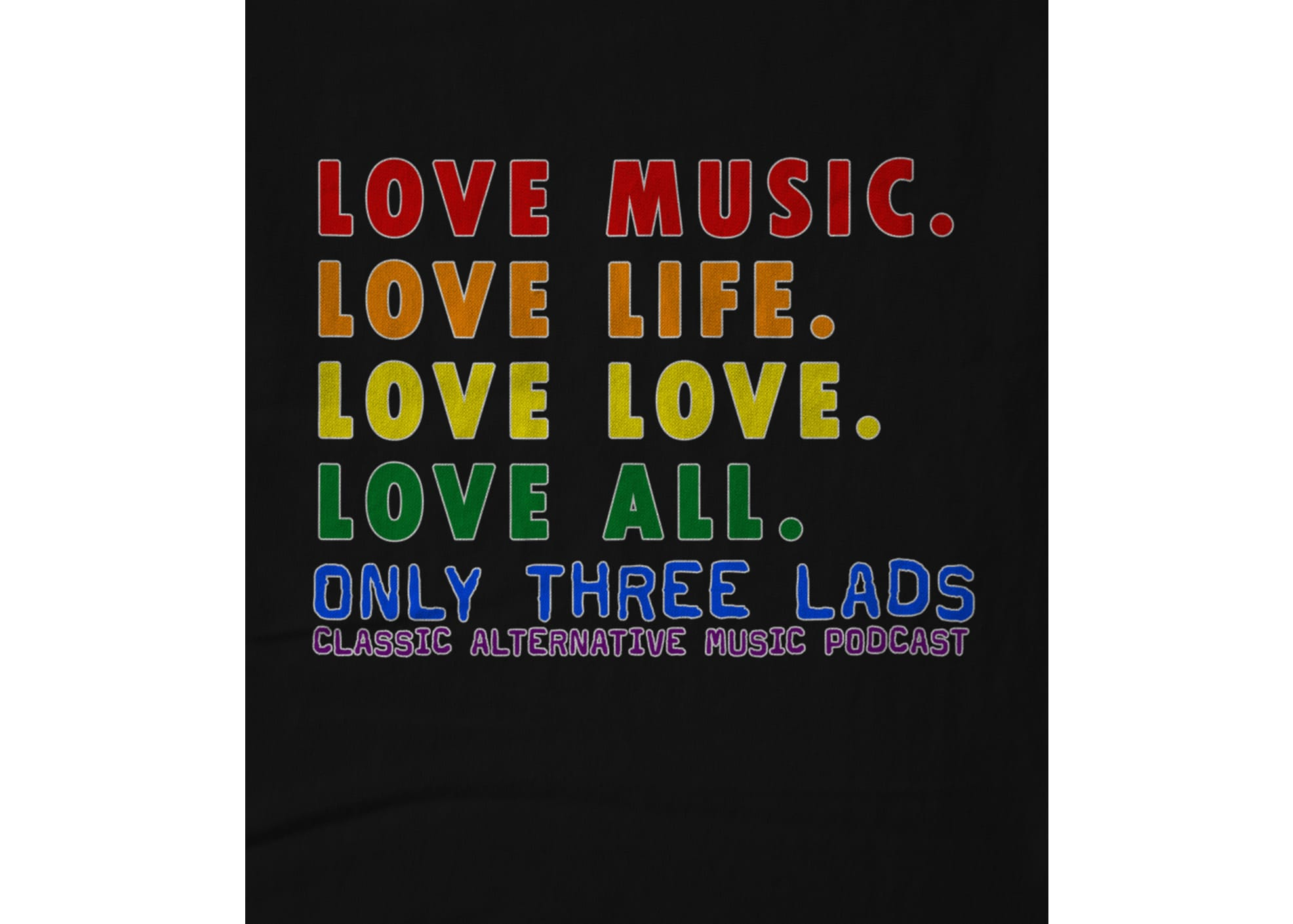 Only three lads love all   black 1623802411