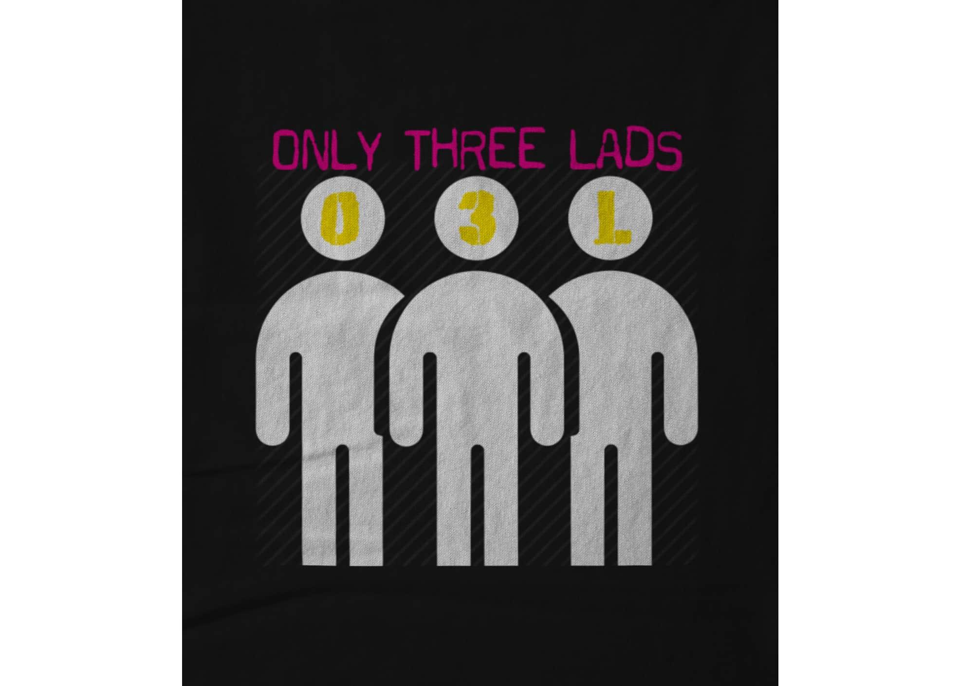 Only three lads o3l podcast   logo design black 1579508607