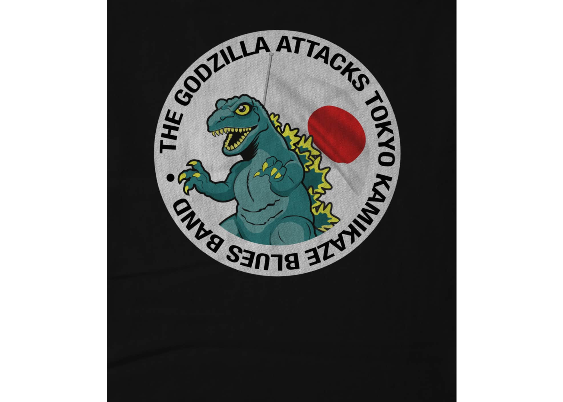 The godzilla attacks tokyo kamikaze blues band  godzilla logo shirt 1601408803