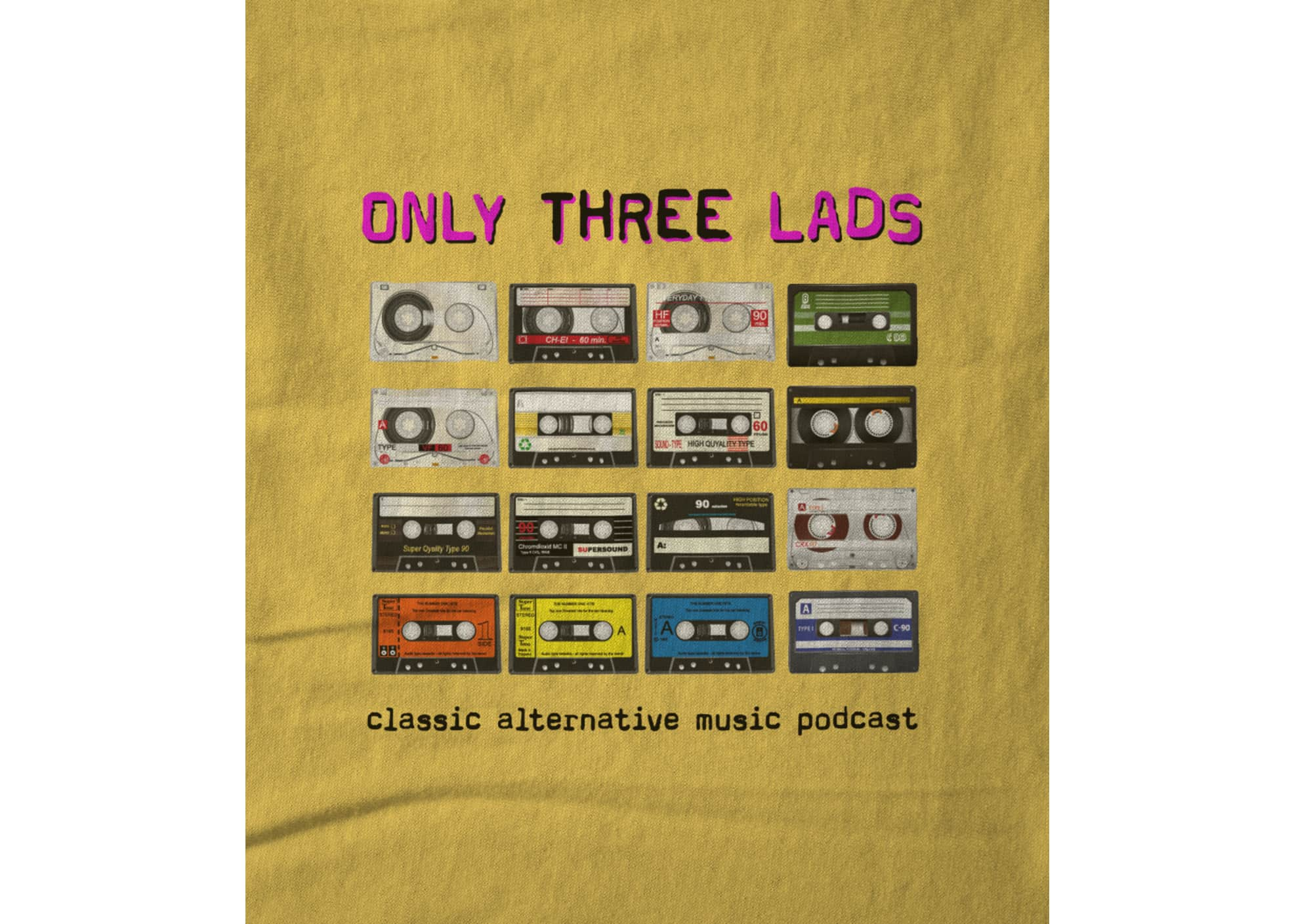Only three lads o3l   tapes  yellow  1617063067